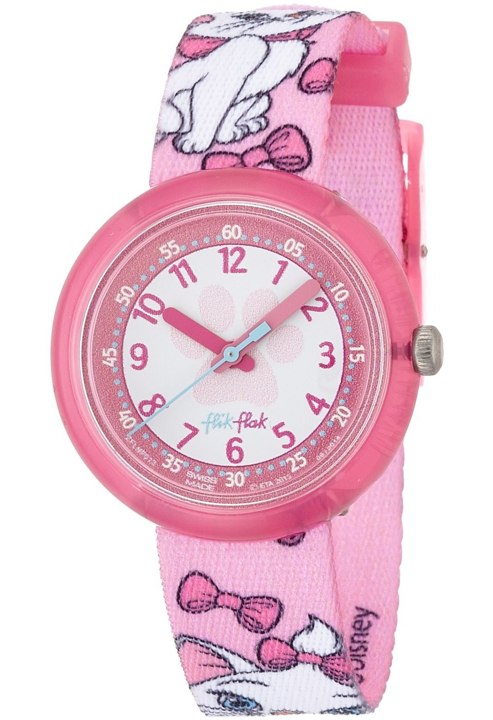 montre disney aristocats marie flnp013 flik flak rose montres co