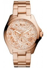 Montre Cécile PVD or rose cadran strass AM4604 - Fossil