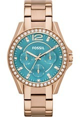 Montre Riley PVD or rose ES3385 - Fossil