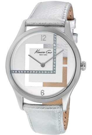 Montre Montre Femme Transparency cuir argenté IKC2877 - Kenneth Cole - Vue 0