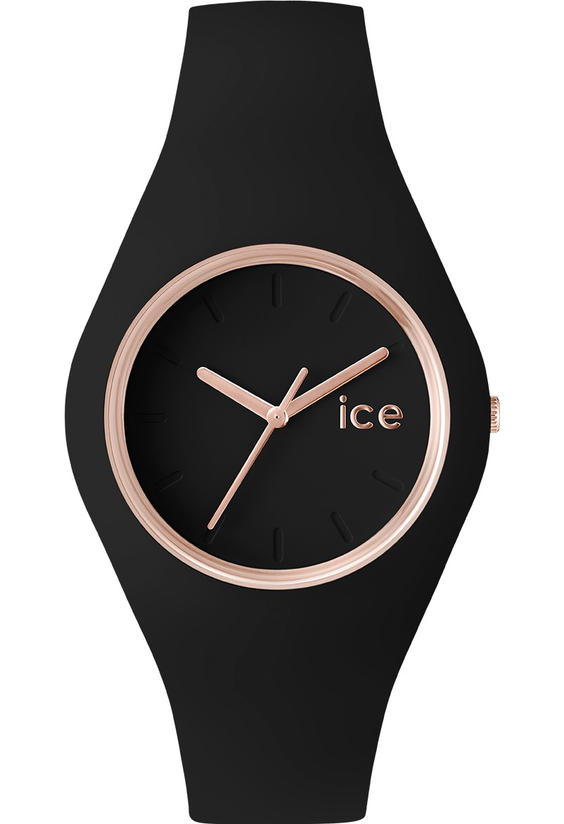 7b8f781a6b9217 Montre Ice-Watch ICE Glam - Black Rose Gold - Small 000979 Noir ...