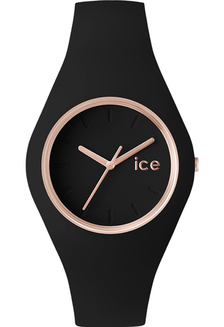montre ice watch ice glam black rose gold small 000979. Black Bedroom Furniture Sets. Home Design Ideas