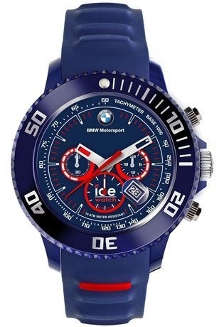montre ice watch ice bmw chrono dark blue red big 001132 bleu montres and co. Black Bedroom Furniture Sets. Home Design Ideas