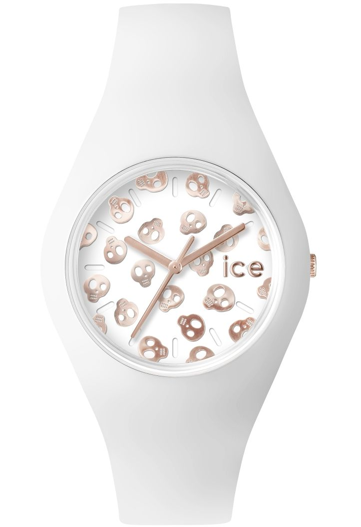 montre ice skull white rose gold unisex ice sk wrg u ice watch blanc montres co. Black Bedroom Furniture Sets. Home Design Ideas