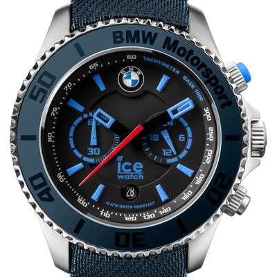 montre ice watch ice bmw motorsport steel chrono dark light blue big 001121 bleu nuit. Black Bedroom Furniture Sets. Home Design Ideas