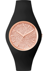 Montre ICE-Glitter - Black/Rose Gold - Unisex 001353 - Ice-Watch