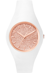 Montre ICE-Glitter - White/Rose Gold - Unisex 001350 - Ice-Watch