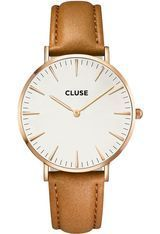 Montre La Bohème Rose Gold White/Caramel CL18011 - Cluse