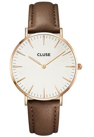 Montre Montre Femme La Bohème Rose Gold White/Brown CL18010 - Cluse - Vue 0