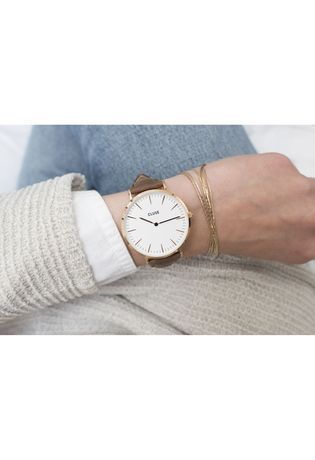 Montre Montre Femme La Bohème Rose Gold White/Brown CL18010 - Cluse - Vue 2