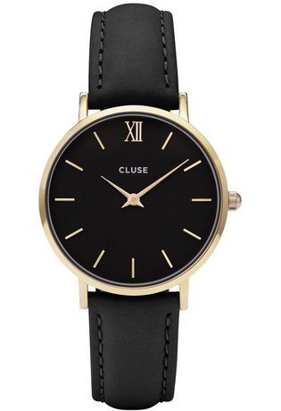 montre cluse minuit gold black black cl30004 dor montres and co. Black Bedroom Furniture Sets. Home Design Ideas