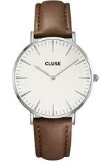 Montre La Bohème Silver White/Brown CL18210 - Cluse