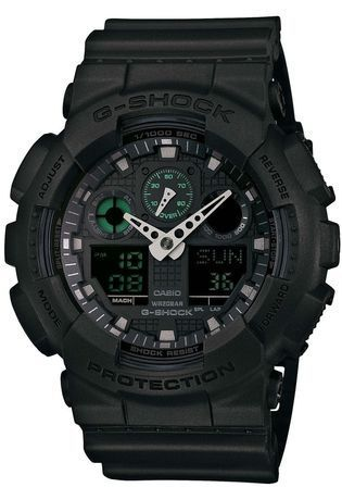 Montre Montre Homme G-Shock Mission Black GA-100MB-1AER - G-Shock - Vue 0