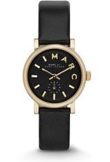 Montre Baker - Cuir Noir & Gold - 28 mm MBM1273 - Marc Jacobs