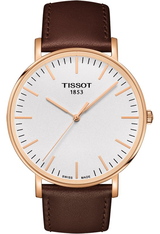 Montre Montre Homme Everytime - PVD Rose & Cuir Marron T1096103603100 - Tissot