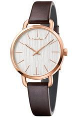 Montre Even - Doré rose & Cuir marron K7B236G6 - Calvin Klein