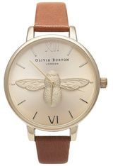 Montre Animal Motif Moulded Bee Tan and Gold OB15AM54 - Olivia Burton