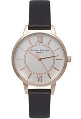 Montre Wonderland - Black, Rose Gold and Silver Mix OB14WD59 - Olivia Burton