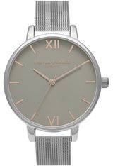 Montre Big Dial - Grey and Silver Mesh OB15BD80 - Olivia Burton