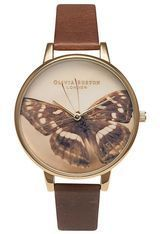 Montre Woodland Butterfly - Brown and Gold OB13WL11 - Olivia Burton