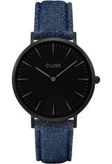 Montre La Bohème - Full Black/Blue Denim CL18507 - Cluse