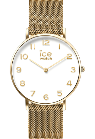 Montre City Milanese - Gold Shiny White Dial 012707 - Ice-Watch - Vue 0
