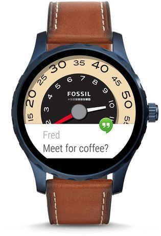 Montre Fossil Q - Marshal PVD bleu & Cuir Marron FTW2106 - Fossil - Vue 3
