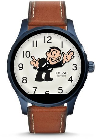 Montre Fossil Q - Marshal PVD bleu & Cuir Marron FTW2106 - Fossil - Vue 2