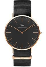 Montre Classic Black Cornwall - Rose Gold DW00100148 - Daniel Wellington