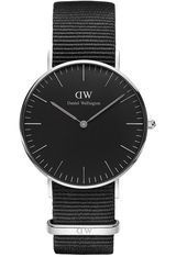 Montre Montre Femme Classic Black Cornwall 36 mm DW00100151 - Daniel Wellington