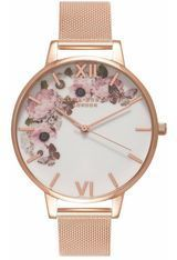 Montre Winter Garden - Rose Gold Mesh  OB16WG18 - Olivia Burton