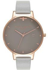 Montre Queen Bee - Grey & Rose Gold OB16AM87 - Olivia Burton