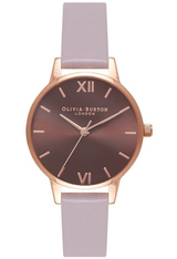 Montre Midi Dial - Brown Dial, Grey Lilac & Rose Gold OB16MD65 - Olivia Burton