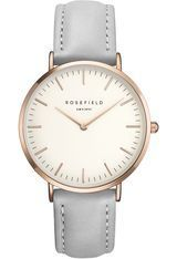 Montre THE BOWERY - White Grey Rose Gold BWGR-B9 - Rosefield