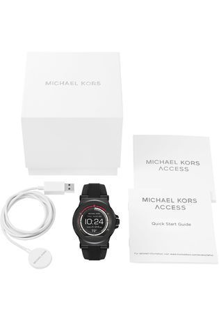 Montre Smartwatch Dylan Silicone Black Tone MKT5011 - Michael Kors - Vue 3