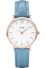 Montre Minuit - Rose Gold White/Retro Blue  CL30046 - Cluse