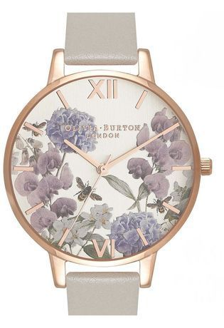 Montre Montre Femme Parlour Bee Blooms Grey and Rose Gold OB16PL30 - Olivia Burton - Vue 0