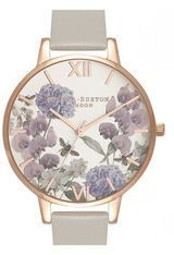 Montre Montre Femme Parlour Bee Blooms Grey and Rose Gold OB16PL30 - Olivia Burton