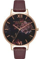 Montre Montre Femme Winter Garden Burgundy and Rose Gold OB16WG24   - Olivia Burton
