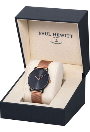 Montre Montre Femme Miss Ocean - Black Sunray Meshband Rose Gold  PH-M-B-BS-4S - Paul Hewitt - Vue 3