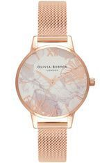 Montre Montre Femme Abstract Florals Rose Gold Mesh OB16VM11 - Olivia Burton