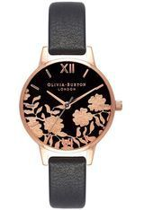Montre Montre Femme Lace Detail Black & Rose Gold OB16MV75 - Olivia Burton
