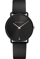Montre Montre Femme Miss Ocean - Black Sunray Leather Black PH-M-B-BS-32S - Paul Hewitt