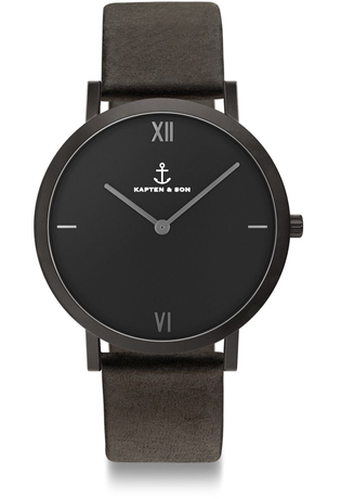Montre Montre Femme, Homme Pure Nox Black Leather CE07B0199E12A - Kapten & Son - Vue 0
