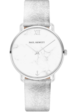 Montre Montre Femme Miss Ocean - Marble Stainless Steel Leather Liquid Silver PH-M-S-M-28S - Paul Hewitt - Vue 0