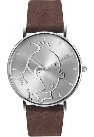 Montre Montre Femme, Homme Tintin Classic Silver Brown S 015325 - Tintin - Vue 0
