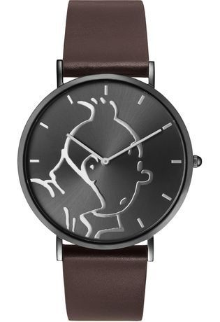 Montre Montre Homme Tintin Classic Anthracite Brown M 015326 - Tintin - Vue 0