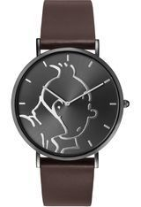 Montre Montre Homme Tintin Classic Anthracite Brown M 015326 - Tintin