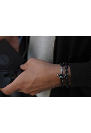 Bracelet Bracelet Homme Triple Black TM0133 - Tom Hope - Vue 1
