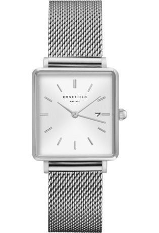 Montre Montre Femme The Boxy - White Sunray/Silver QWSS-Q02 - Rosefield - Vue 0
